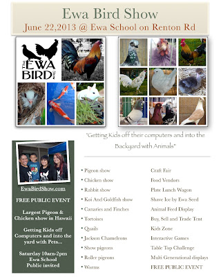 Flyer for pet event for Waimanalo feed supply