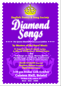 Diamond Songs, 12 October 2012, Colston Halls, Bristol