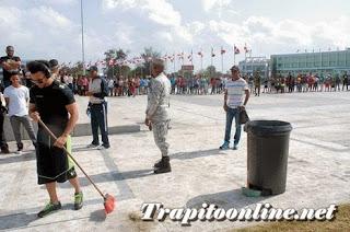 Este martes ¨El Alfa¨ cumple 15 días limpiando Plaza de la Bandera