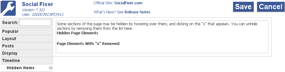 social fixer hidden items tab