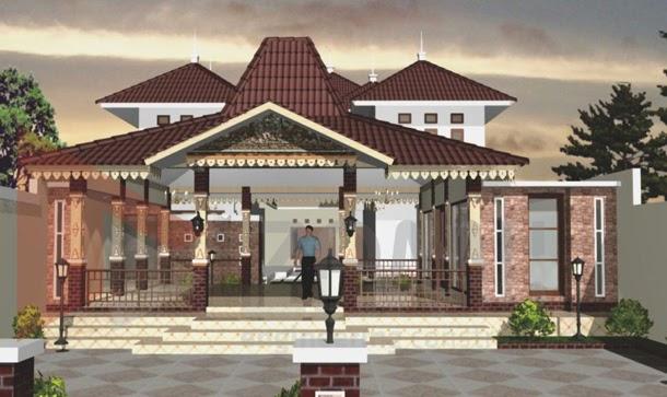 Rumah Tinggal Dengan Desain Rumah Joglo