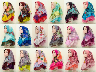 Tudung Chiffon 3 Layer Plain - Batch 10