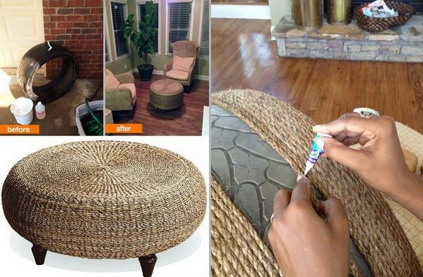 C mo reciclar un neum tico usado portal de manualidades - Reciclar muebles usados ...