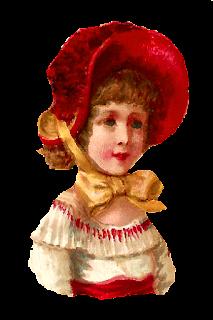 girl vintage bonnet clip art