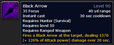 WoW Hunter's Shot: Black Arrow