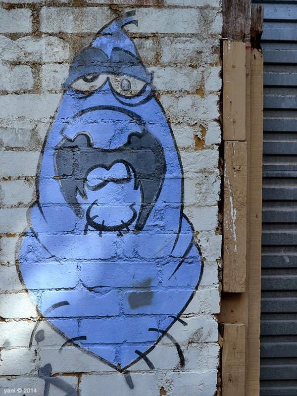 blue brick monster