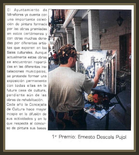 MIRAFLORES DE LA SIERRA-MADRID-PINTURA-PREMIOS-AYUNTAMIENTO-PINTOR-ERNEST DESCALS