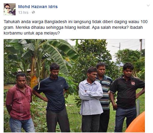 Warga Bangladesh Tidak Diberi Daging Dan Dihalau Pak Haji Di Majlis Korban Di Ipoh