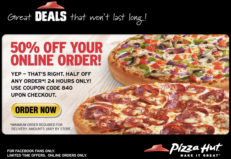 Build your ideal order, and the website will match the best coupons to your order during the process. Join the Piece of the Pie rewards program and earn points toward free pizzas when you order online, at a store, or by phone. You can accumulate points no matter how and when you order.