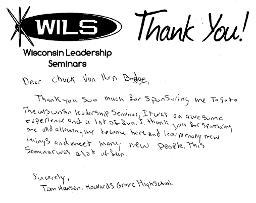 we were so excited and proud to receive the following thank you letters from the students we sponsored