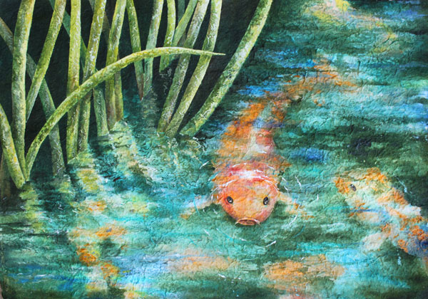 Nancy goldman art big fish small pond for Big fish pond