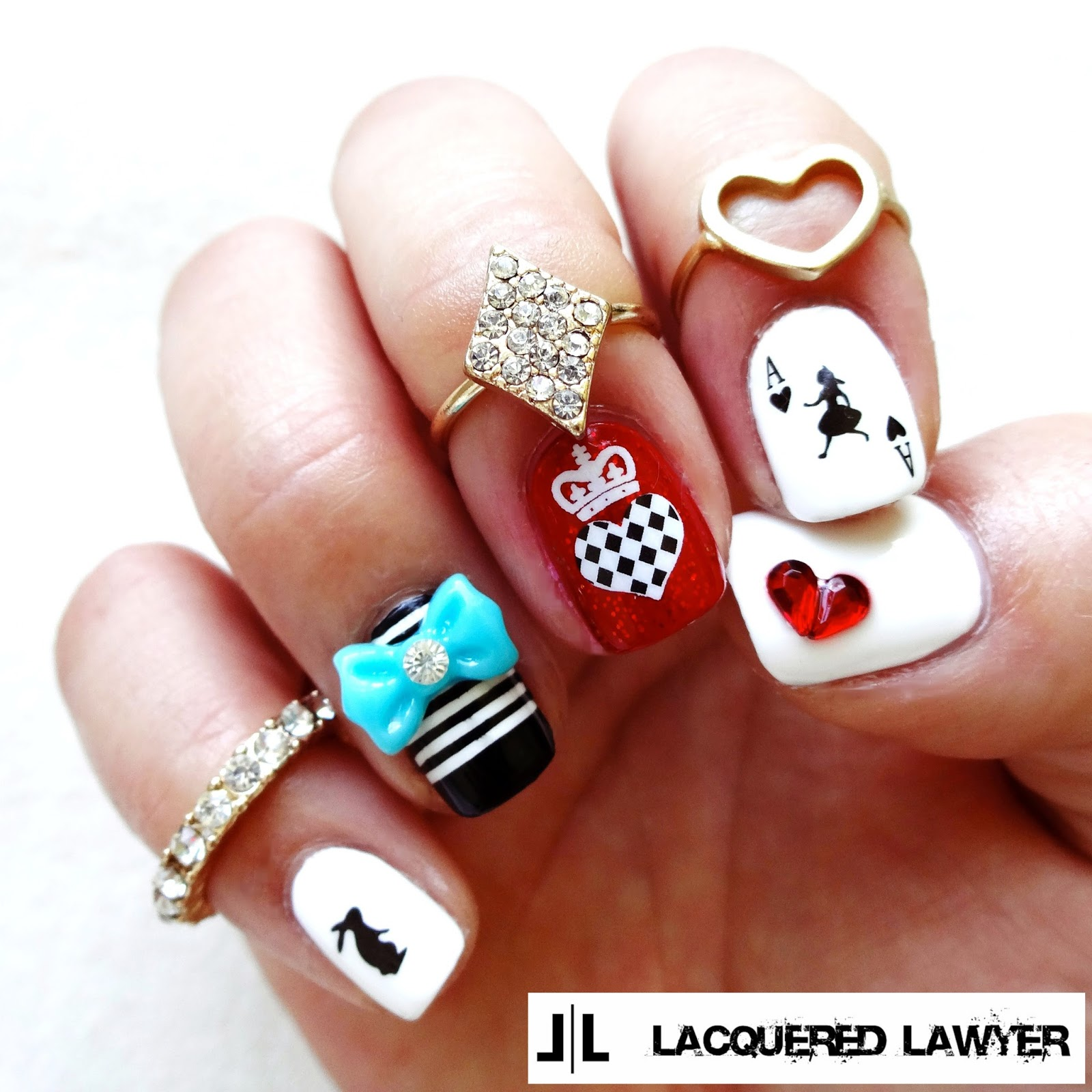 Alice in Wonderland Nail Art