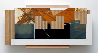 Kuno Lindenmann, O.T. DA 106/II, Bildobjekt/Mischtechnik, 40 x 90 cm (Detail), 2013