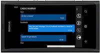 Nokia Lumia 800 front view