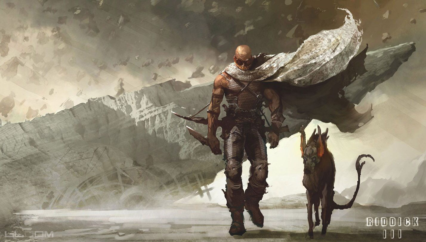 Riddick and his space dog-hyena