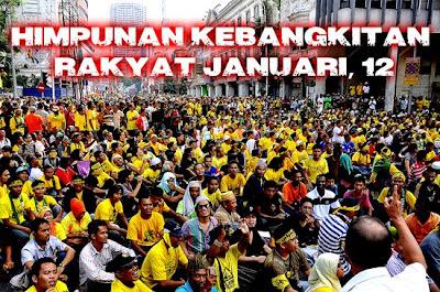 Gambar Sekitar HKR KL112 Himpunan Kebangkitan Rakyat 12 Januari 2013