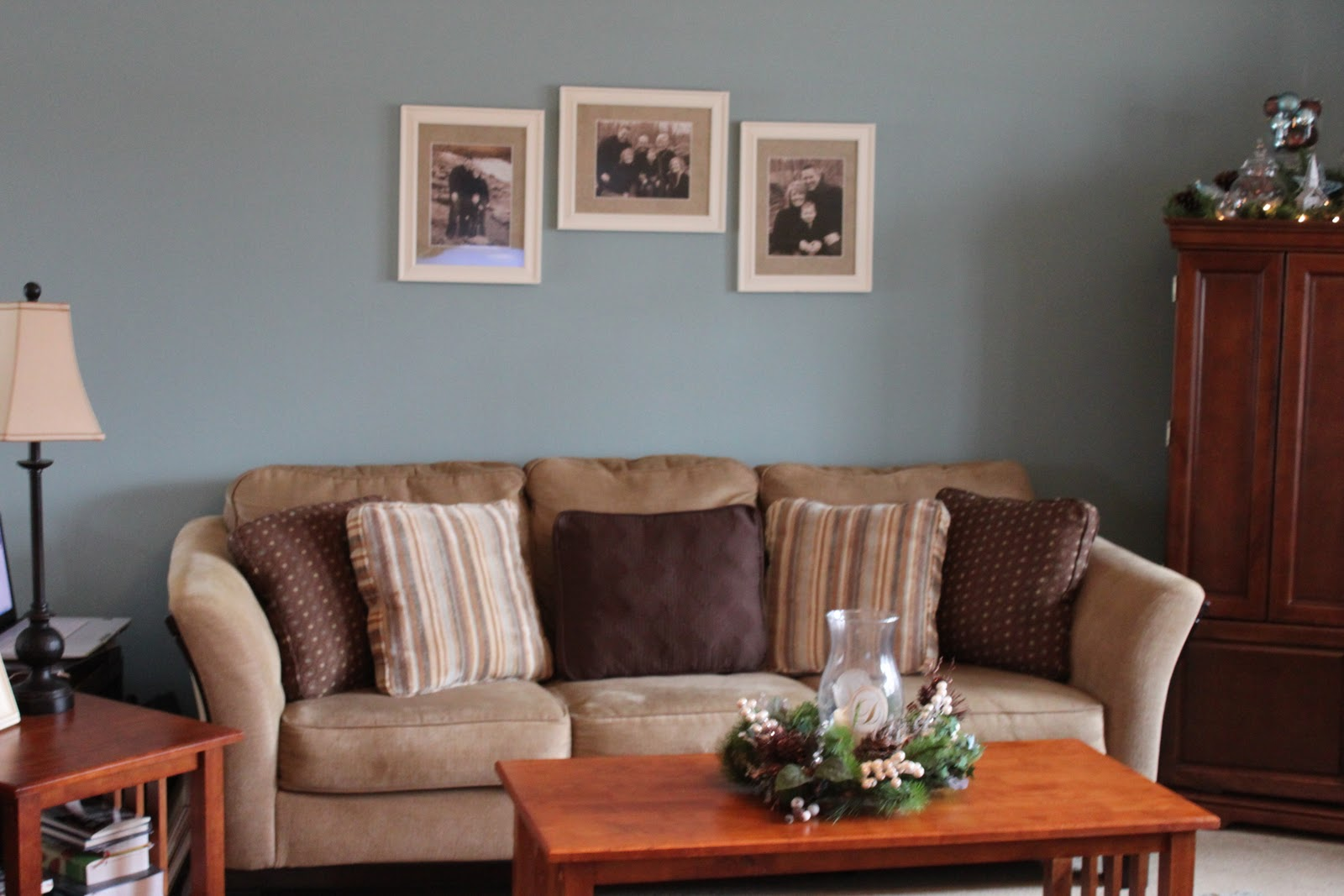 Board/Batten Gallery Wall in the Living Room - Love of Family & Home