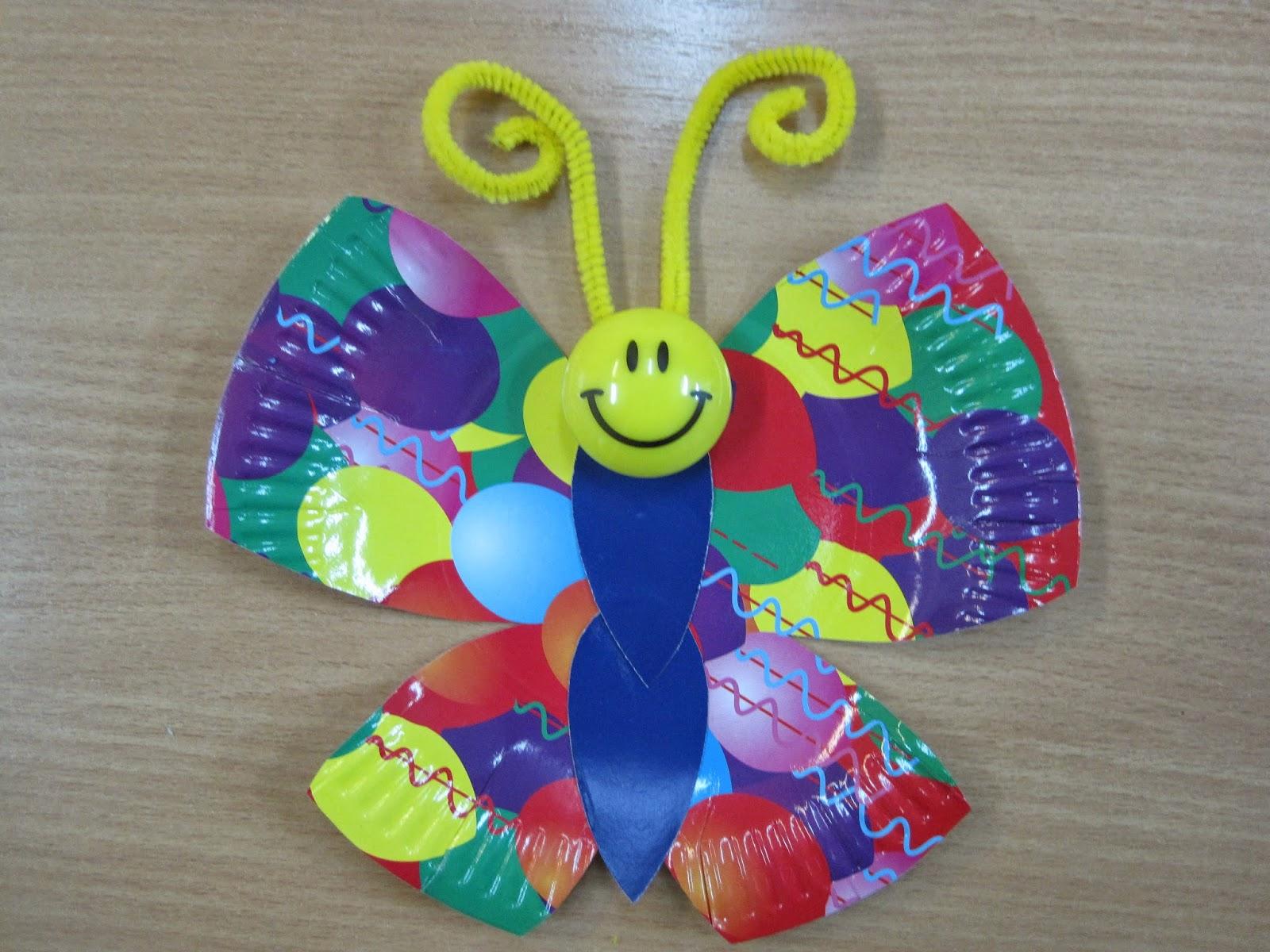 Поделка бабочка своими руками для детского сада