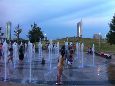 Austin Butler Park fountains for children