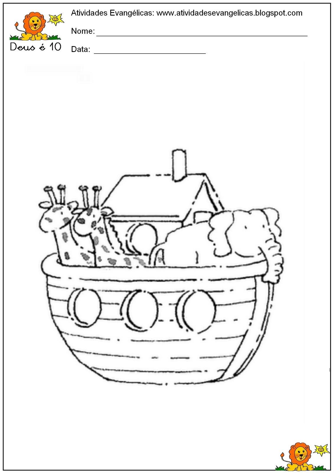 jardim rosas de saron:Rosa de Saron: História arca de Noé para pintar