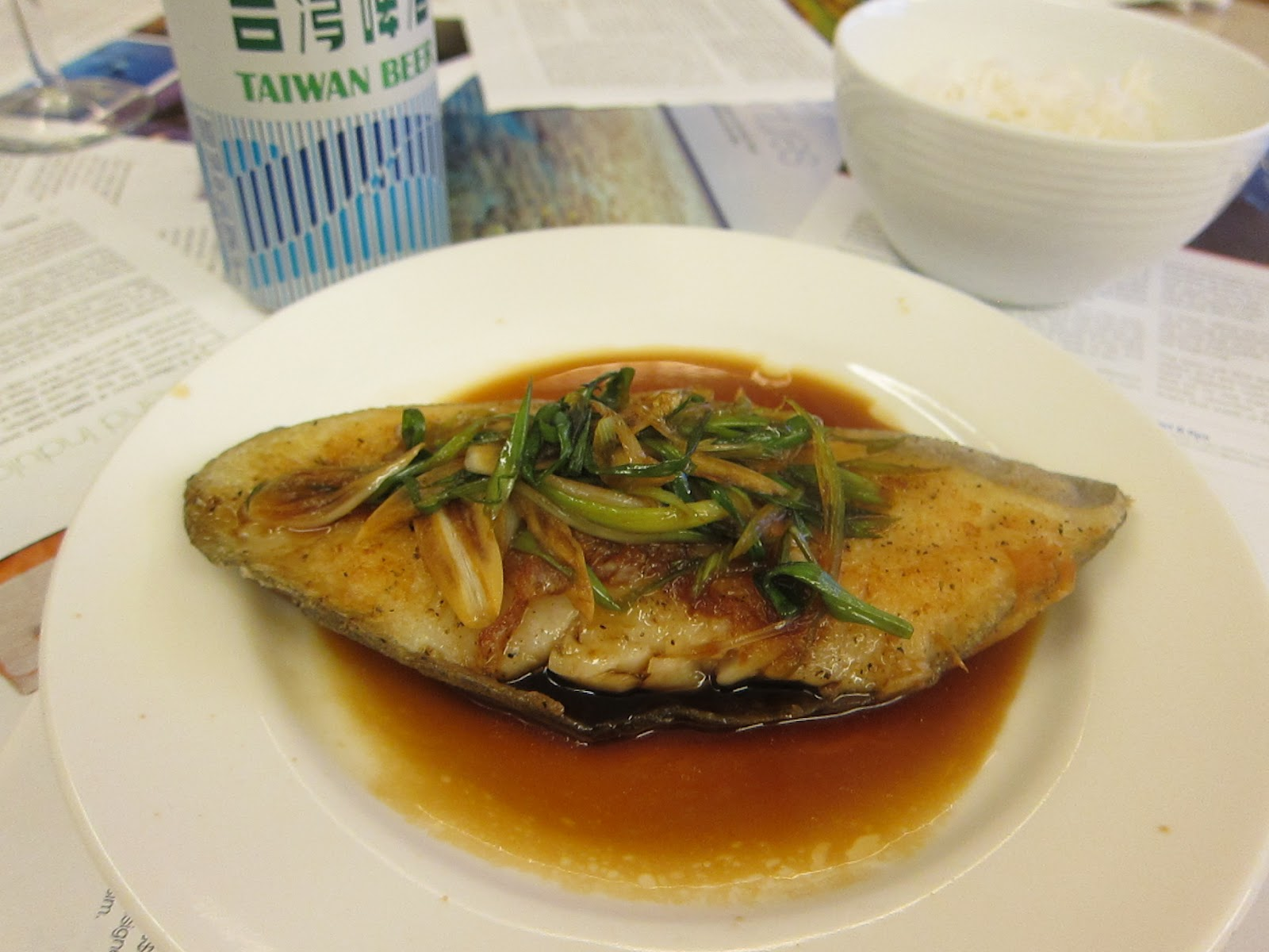 Grubbin 39 solo chinese cod in soy and green onion for Cod fish in chinese
