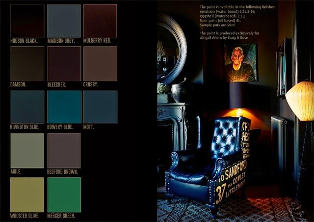 Palette couleurs deco sombres