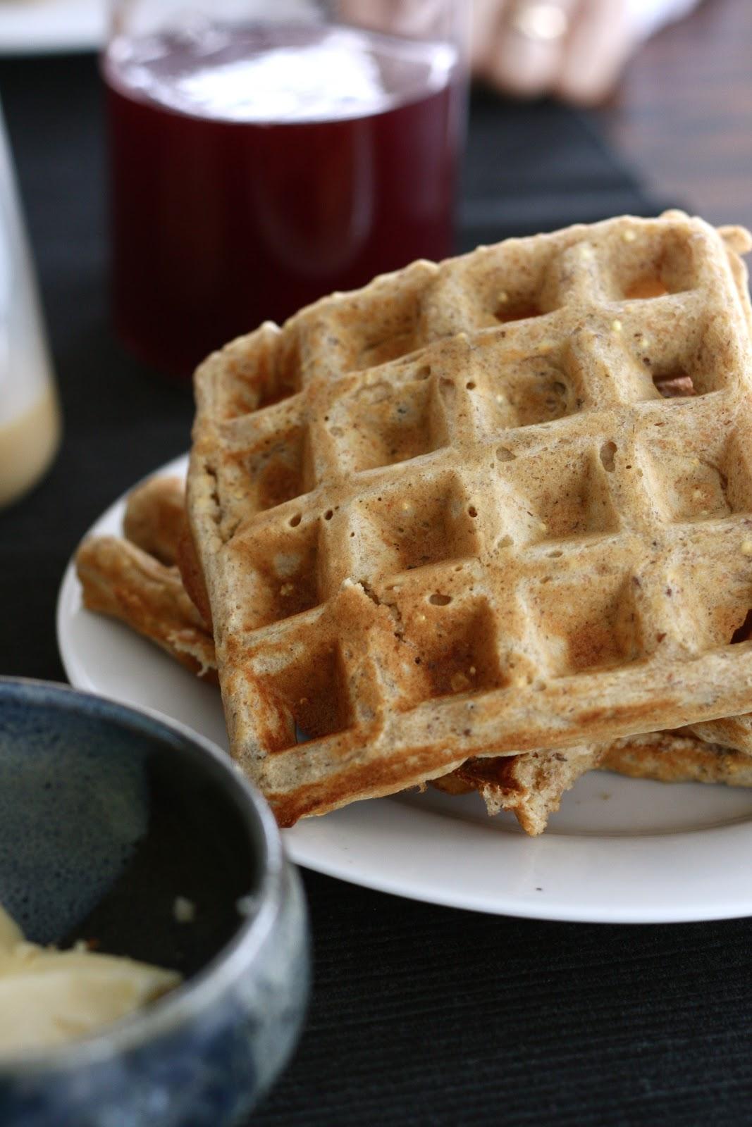 cher stuff: multigrain extravaganza waffles