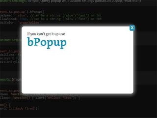 bPopup : jQuery modal popup plugin