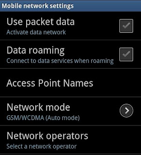 Activate Packet Data Network on your Samsung Galaxy Y