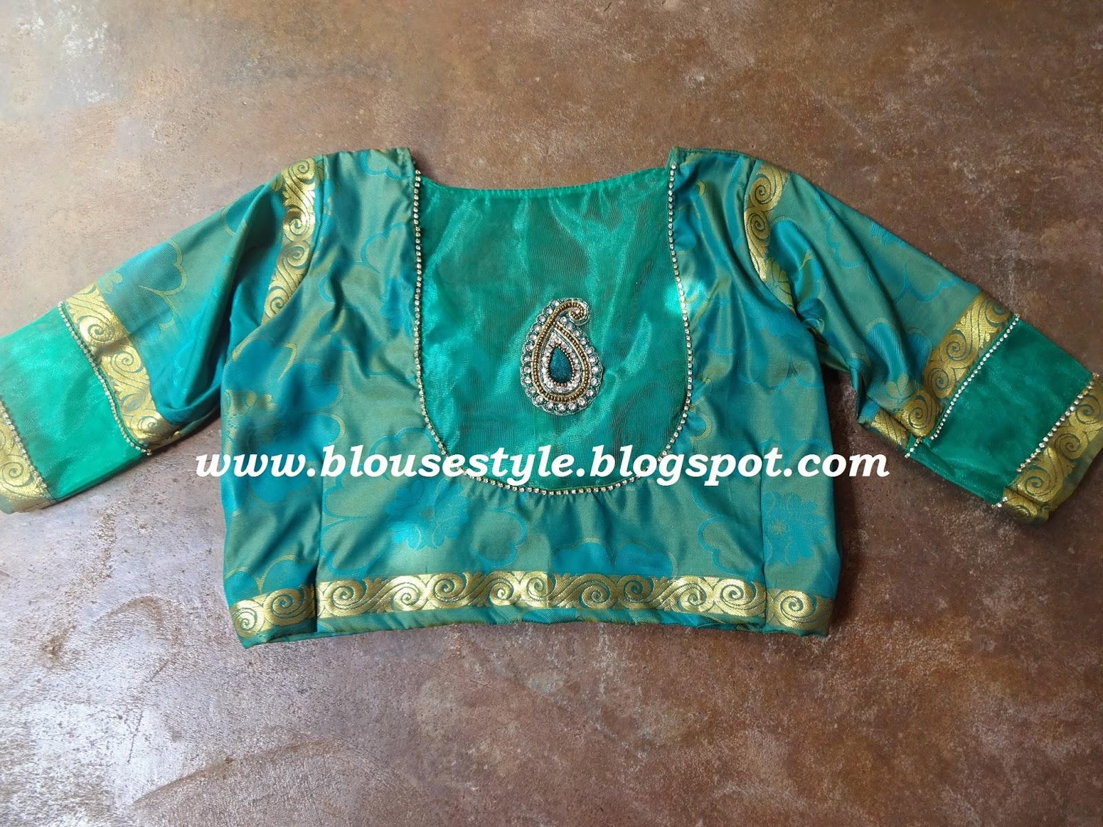 green net blouse