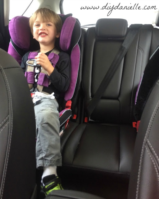 Car seats in a Ford Energi C-Max