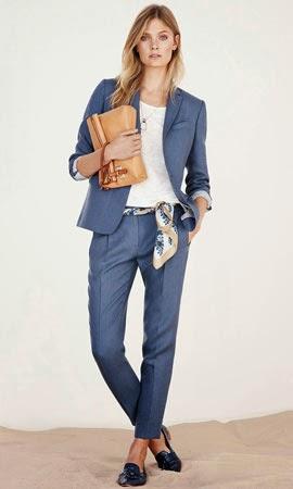 Massimo Dutti mulher primavera verão 2014 looks casaco calças t-shirt de linho mala tiracolo