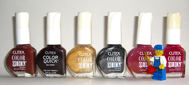 Cutex - Raisin, Burgundy Blaze, Gold Stripes, Mischief, Mauve In Motion, Crushed Cranberries