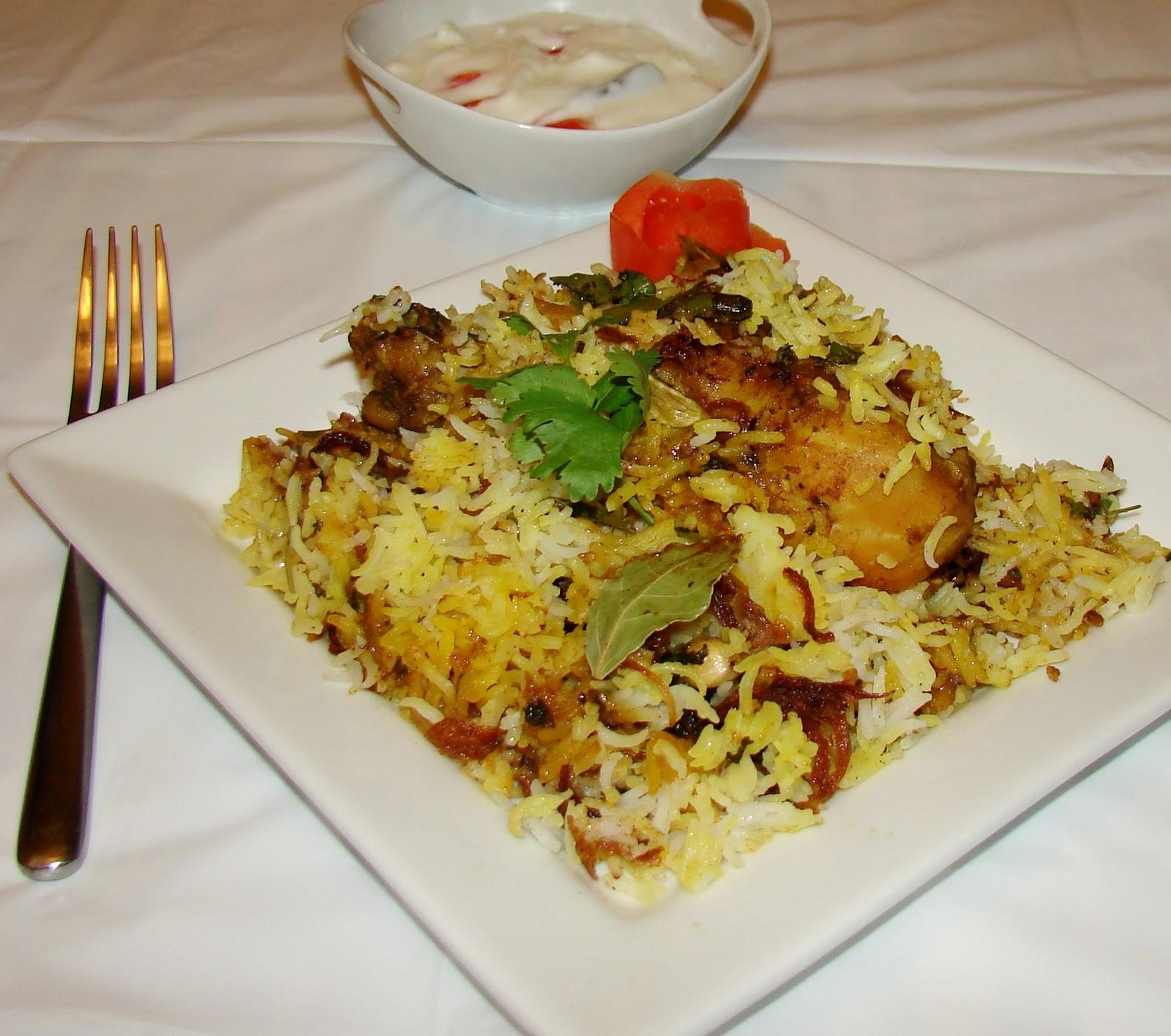 Kitchen Corn... Hyderabadi Chicken Biryani