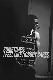 nobody cares Free alone quote wallpaper