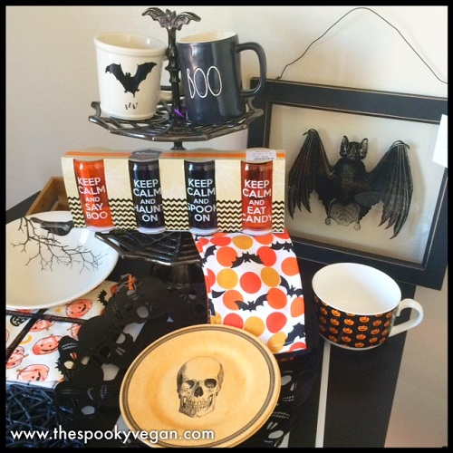 and my first haul from homegoods this year bat cupcake stand bat and boo - Halloween Cupcake Holder