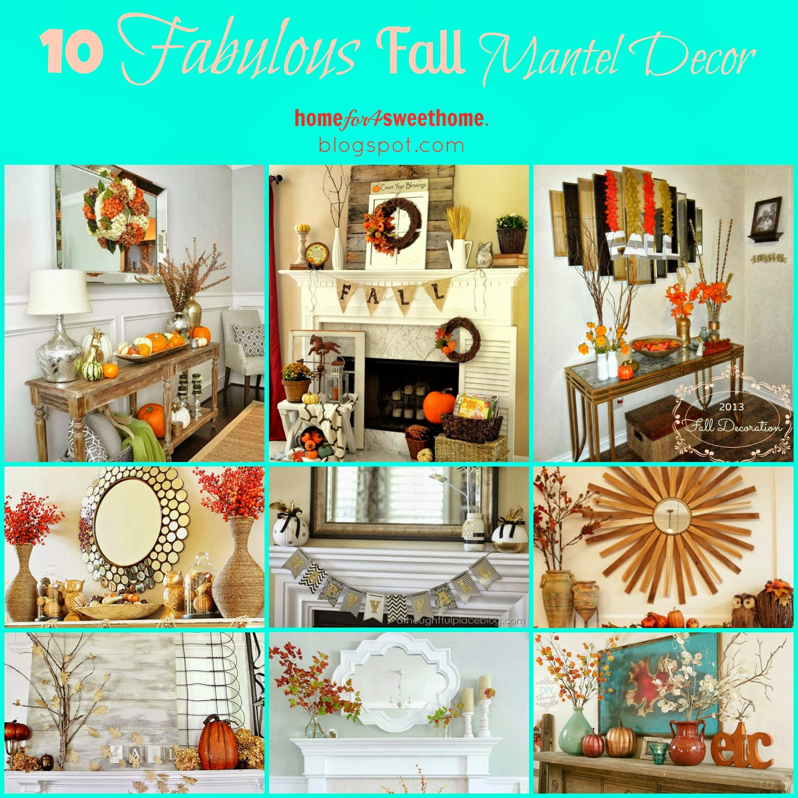 fall mantel decoration ideas