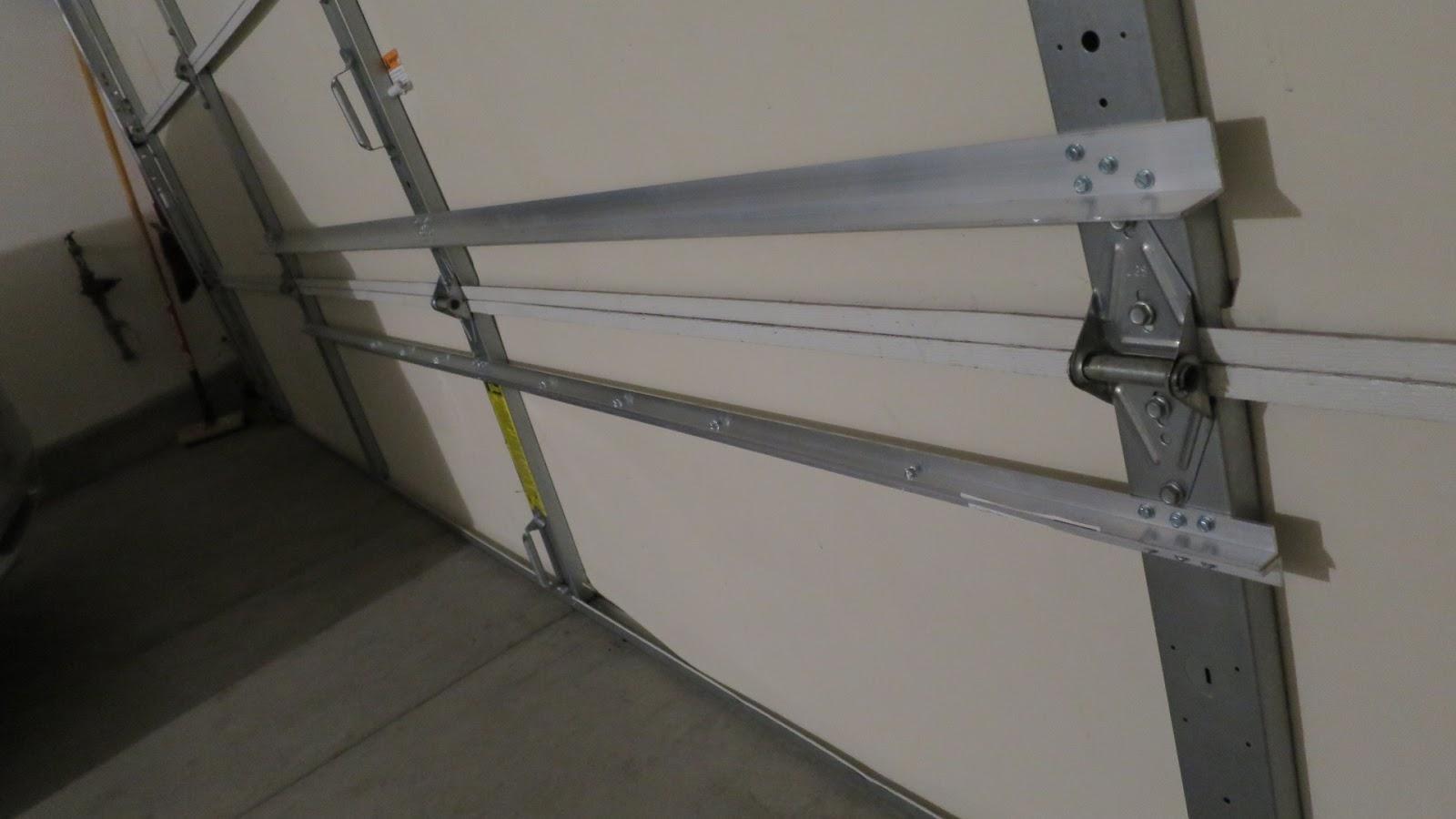 Rambling About Everything Sagging Garage Door Temporary Fix