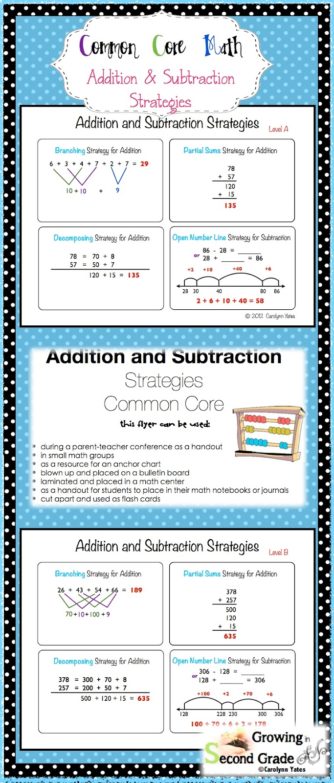 https://www.teacherspayteachers.com/Product/Mental-Math-Strategies-for-Addition-and-Subtraction-Common-Core-484424