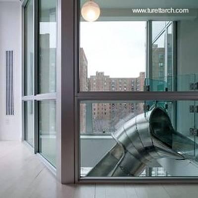 Arquitectura de casas tobog n escalera interior en - Casa con tobogan ...