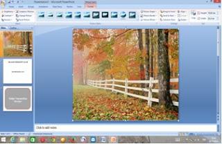cara memasukkan gambar pada slide presentasi