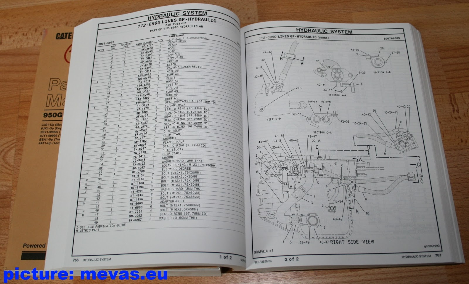 cat 950g wheel loader parts manual parts catalogues for sale for