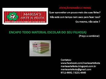ENCAPANDO MATERIAL ESCOLAR