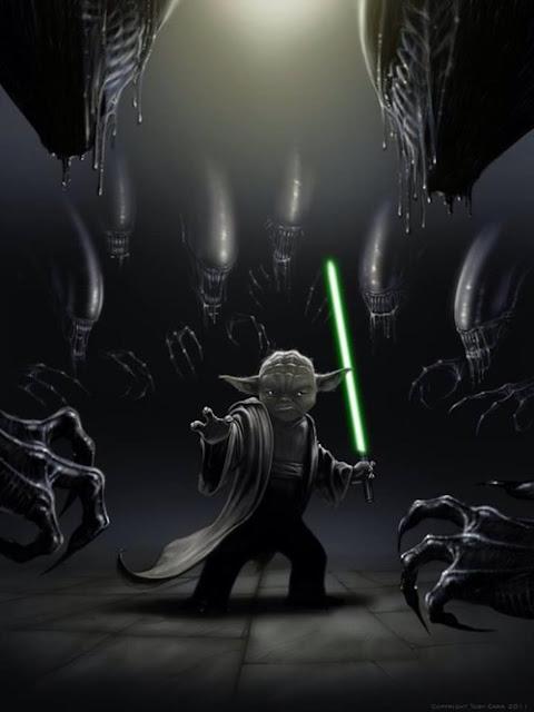 Crossover espectacular: Yoda vs. Alien