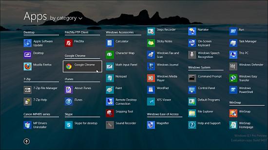 Windows 8.1 Untouched ISO (x64) Start Menu
