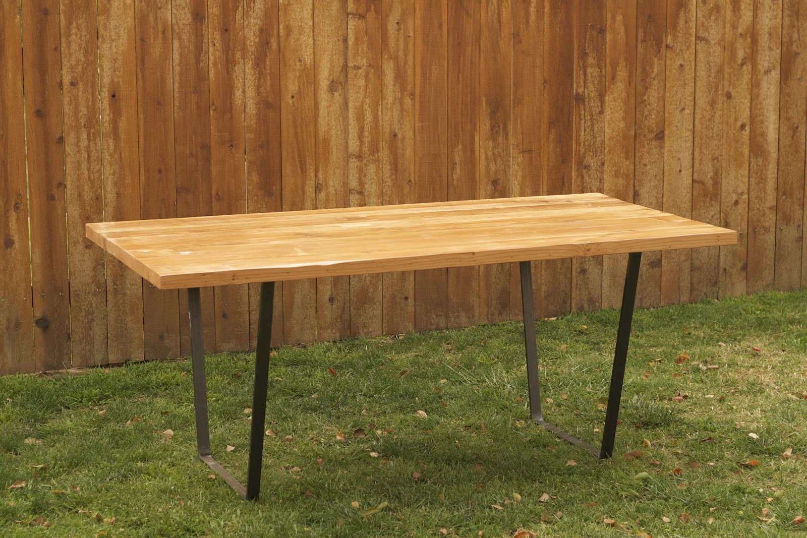 Superb img of Arbor Exchange Reclaimed Wood Furniture: Dining Table w/ Metal Legs with #BE7A0D color and 1600x1067 pixels