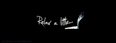 Couverture facebook phrase relax a little