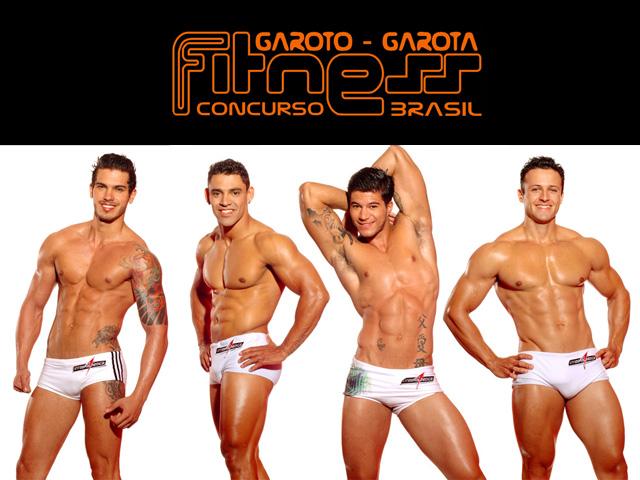 Alex, Charles, Everton e Rogério - Candidatos do Concurso Garoto Fitness Brasil 2012