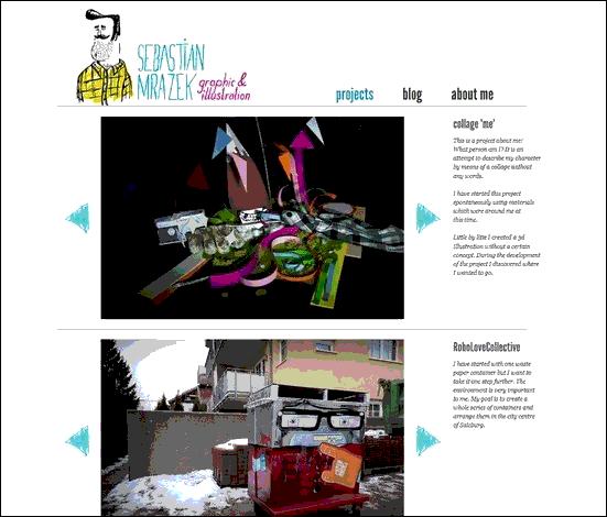 Sebastian Mrakez - Website design using drawings and illustration