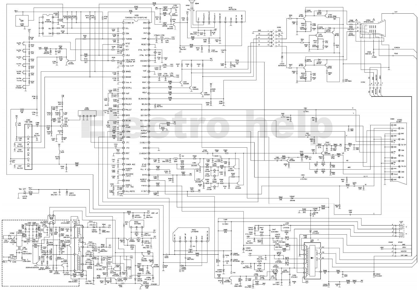 Схема телевизора рекорд 37тц5173